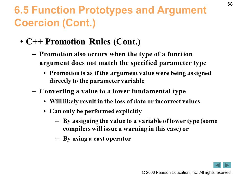 6.5 Function Prototypes and Argument Coercion (Cont.)