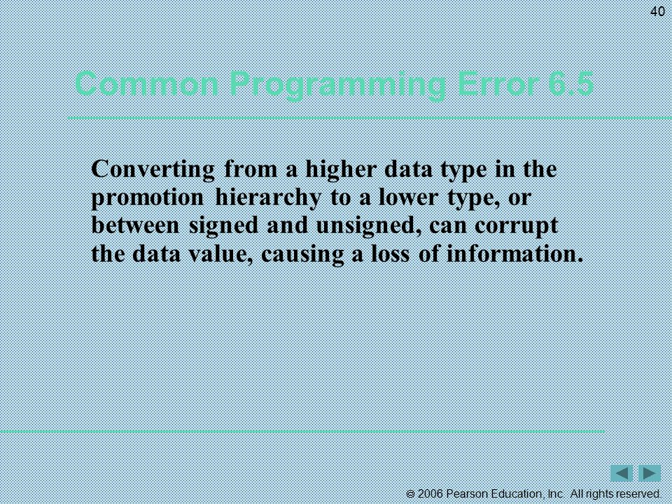 Common Programming Error 6.5
