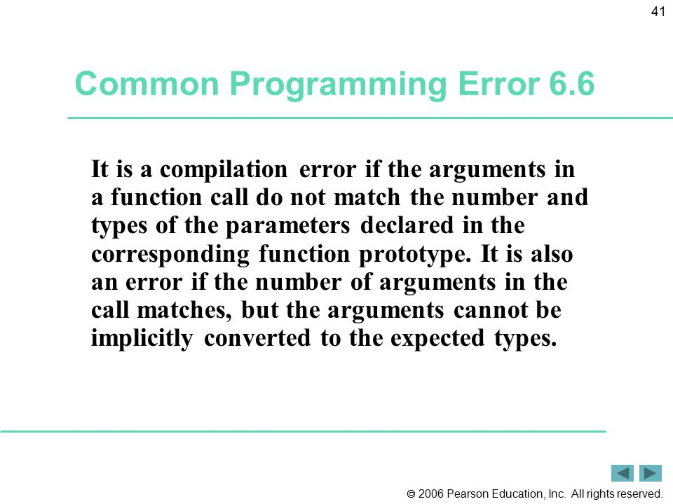 Common Programming Error 6.6