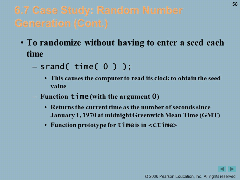 6.7 Case Study: Random Number Generation (Cont.)