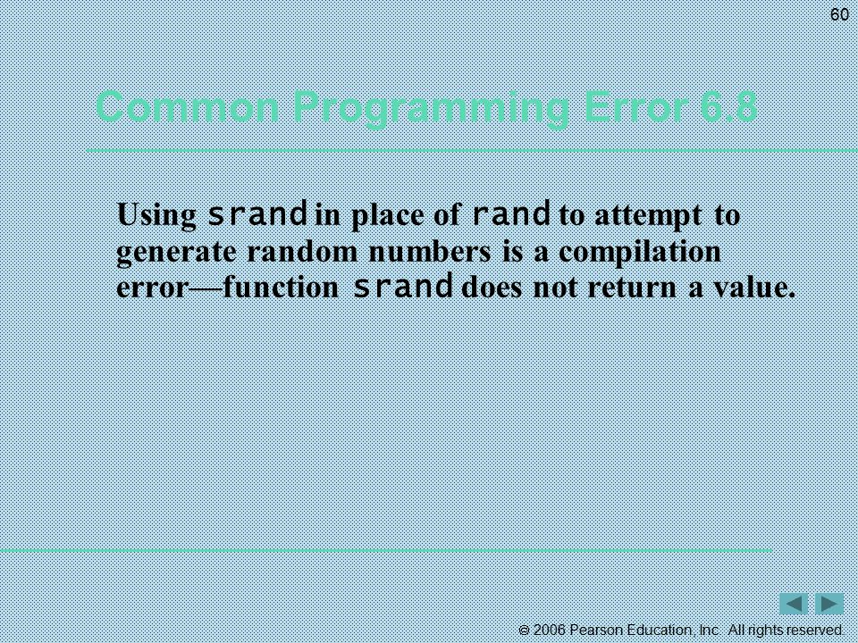 Common Programming Error 6.8