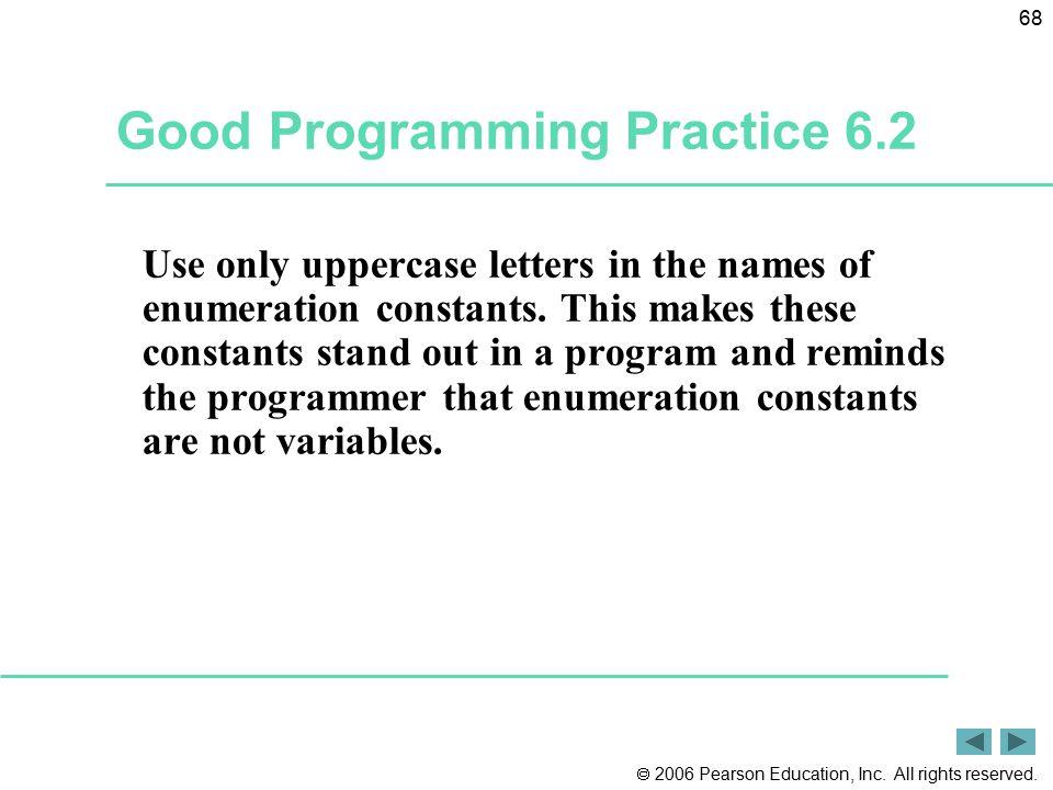 Good Programming Practice 6.2
