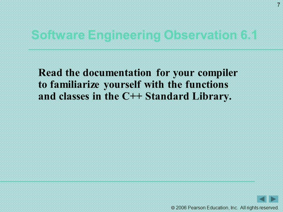 Software Engineering Observation 6.1