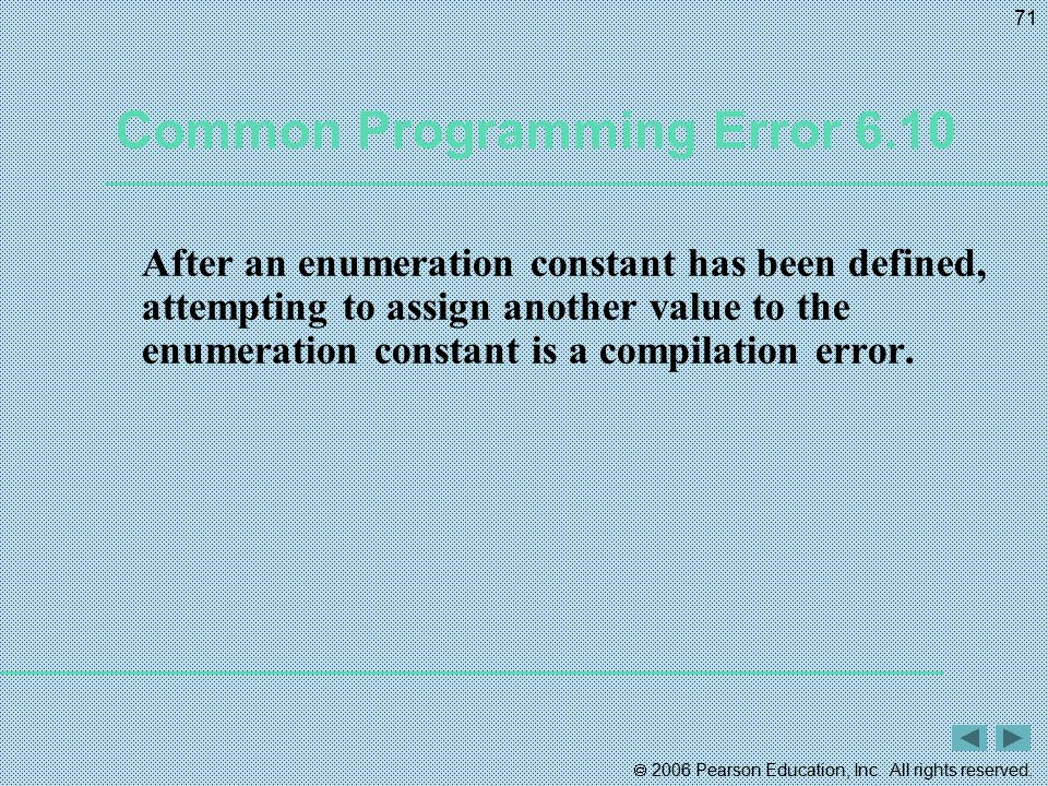 Common Programming Error 6.10