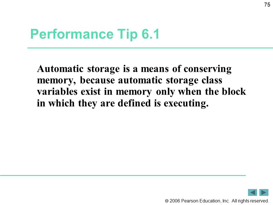Performance Tip 6.1