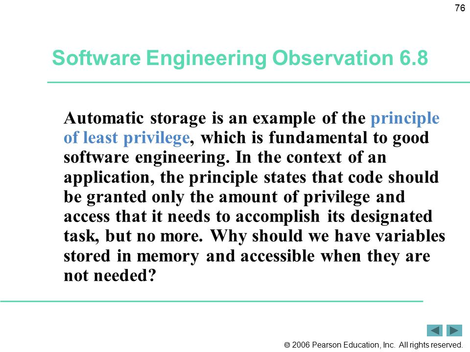 Software Engineering Observation 6.8