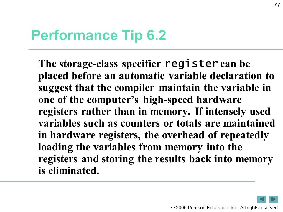 Performance Tip 6.2