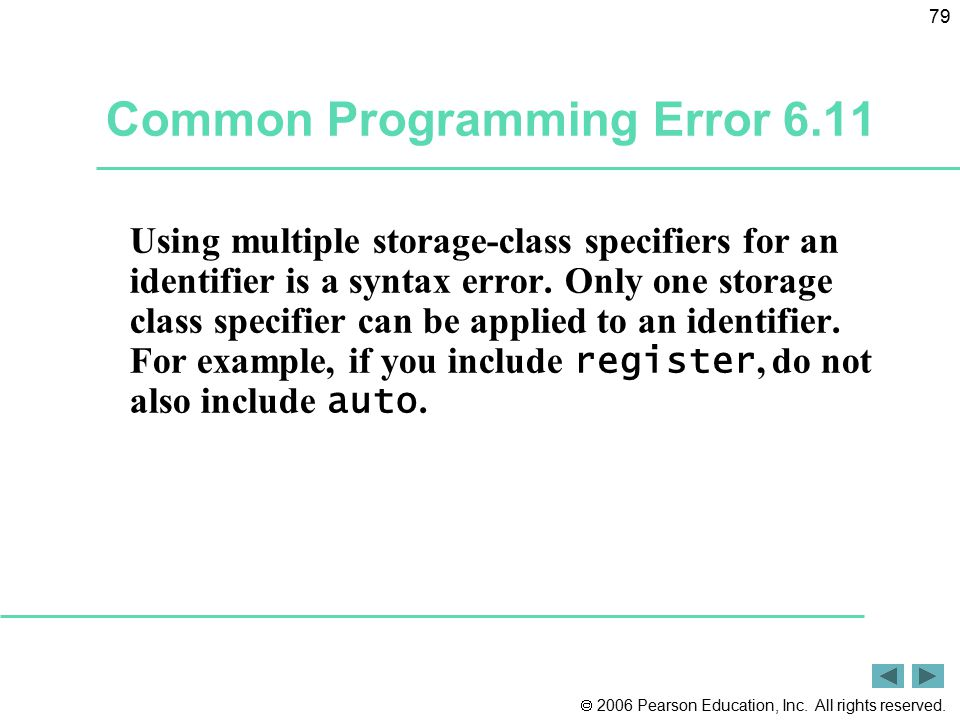 Common Programming Error 6.11
