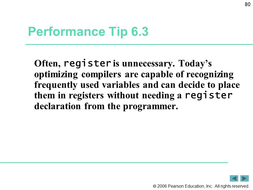 Performance Tip 6.3