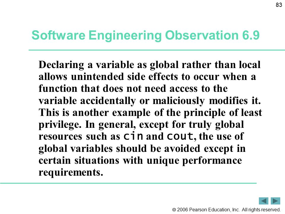 Software Engineering Observation 6.9
