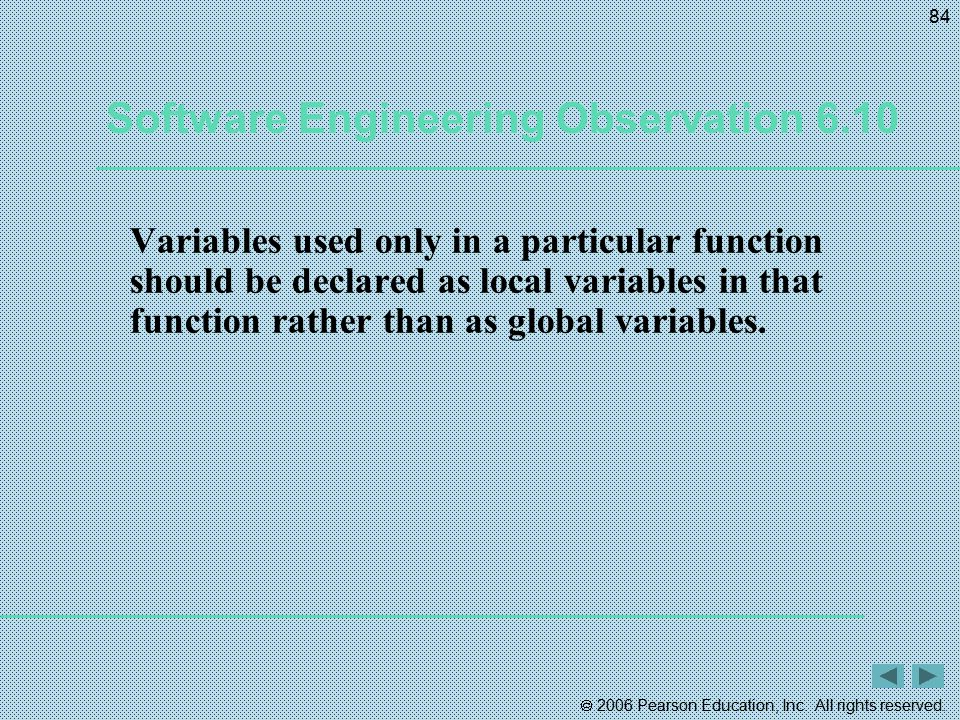 Software Engineering Observation 6.10