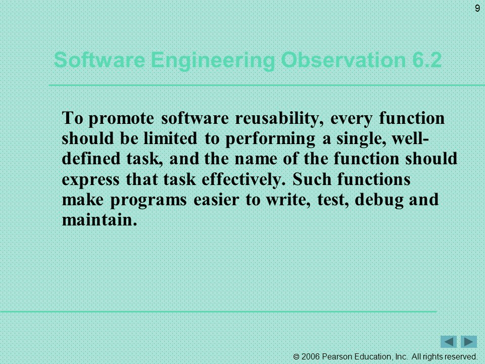 Software Engineering Observation 6.2