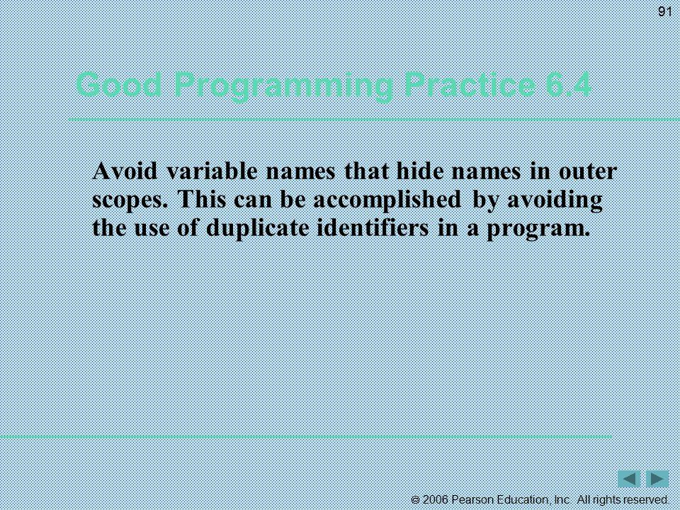 Good Programming Practice 6.4