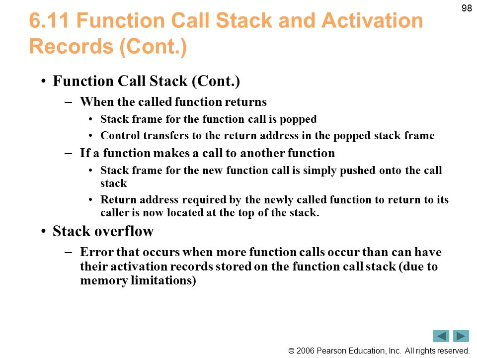 6.11 Function Call Stack and Activation Records (Cont.)