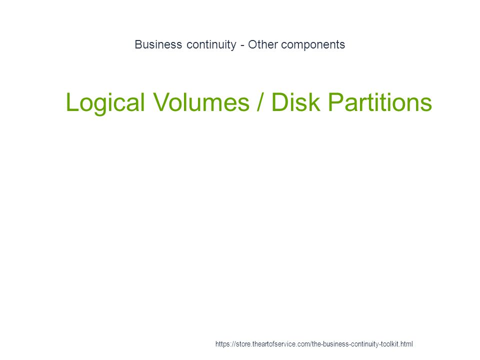 Business continuity - Other components