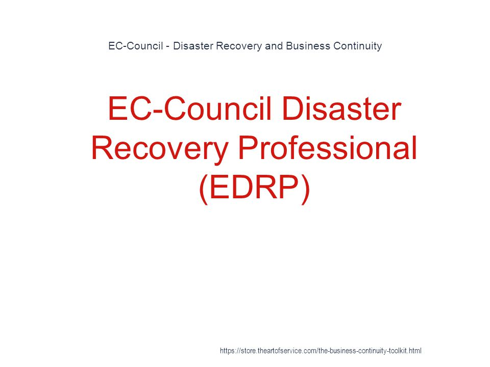 EC-Council - Disaster Recovery and Business Continuity