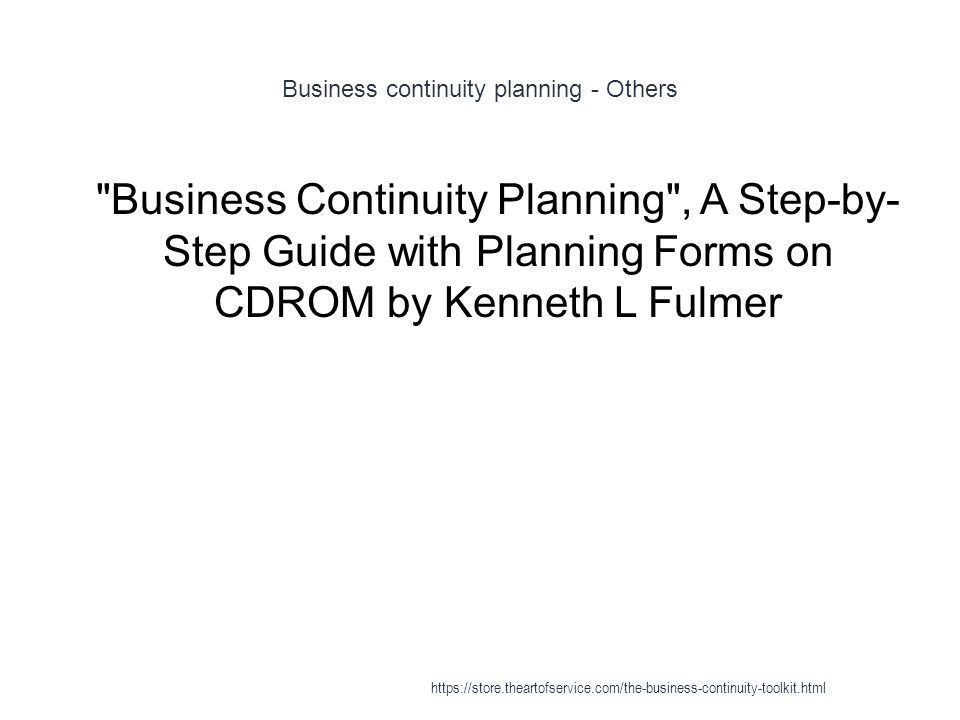 Business continuity planning - Others