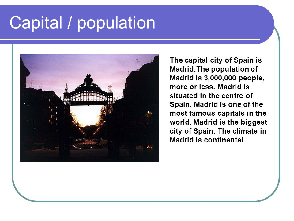 Capital / population