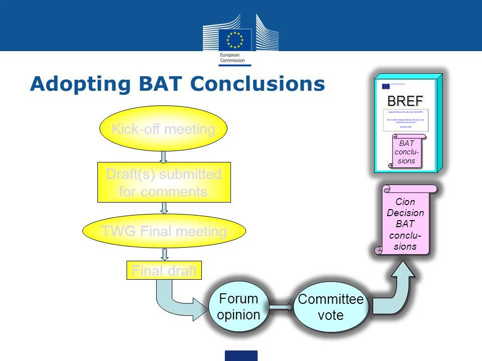 Adopting BAT Conclusions