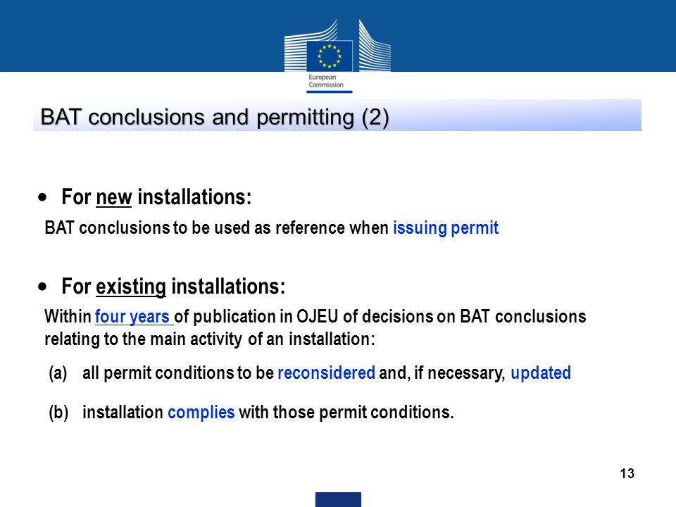 BAT conclusions and permitting (2)