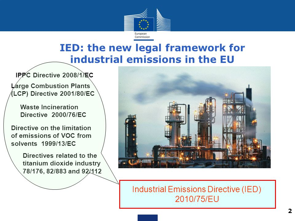 IED: the new legal framework for industrial emissions in the EU