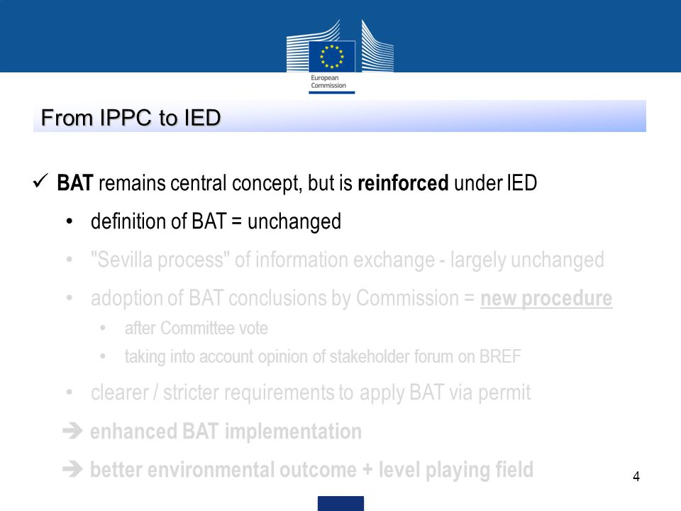 BAT remains central concept, but is reinforced under IED