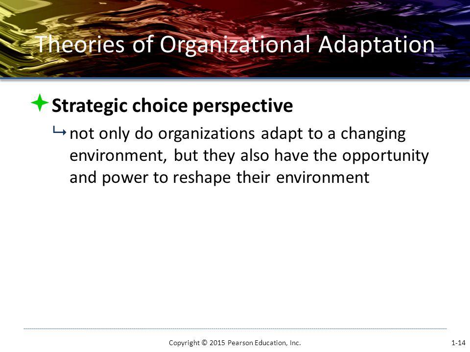 Theories of Organizational Adaptation