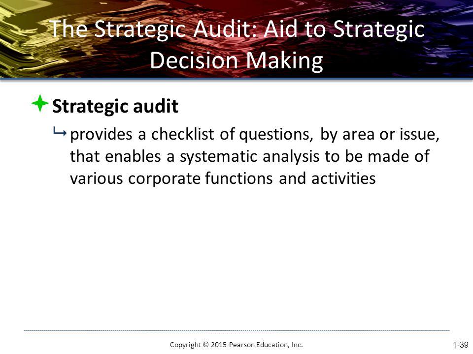 The Strategic Audit: Aid to Strategic Decision Making