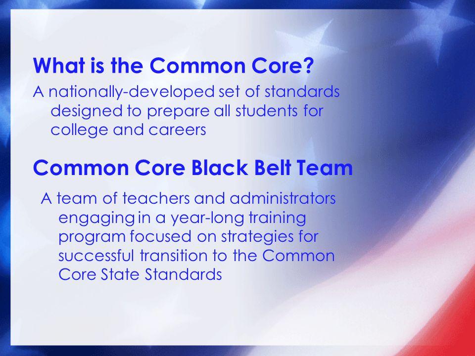 Common Core Black Belt Team