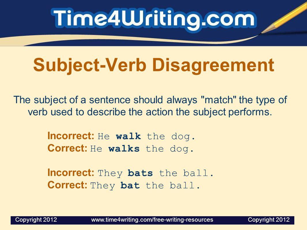 Subject-Verb Disagreement