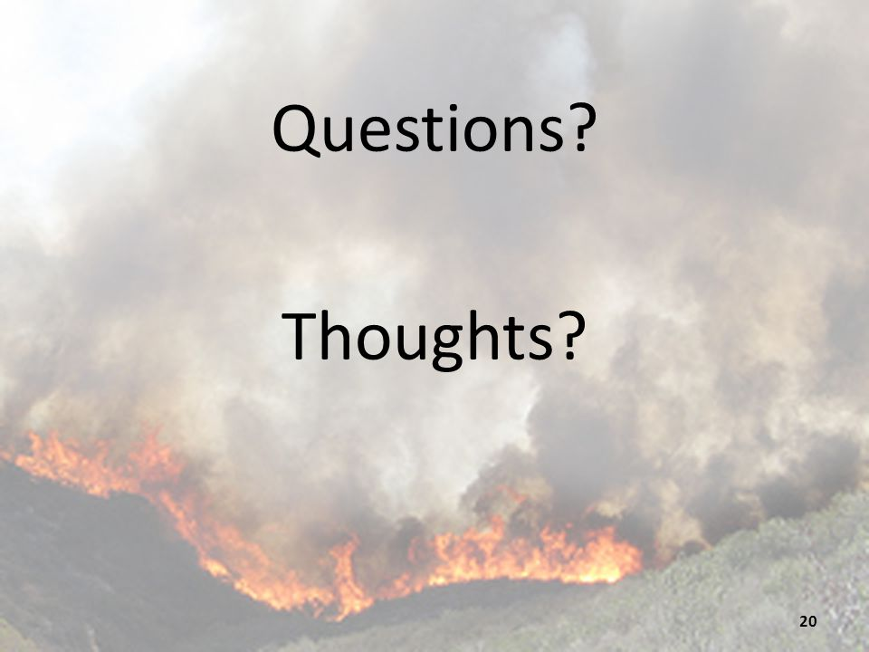 Questions Thoughts