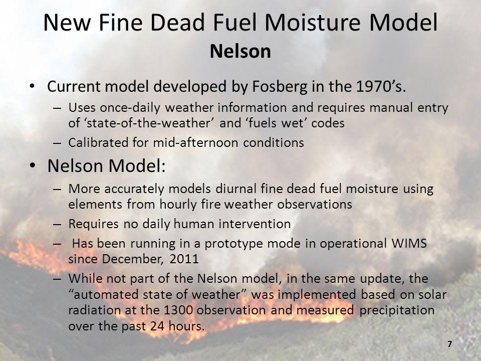 New Fine Dead Fuel Moisture Model Nelson