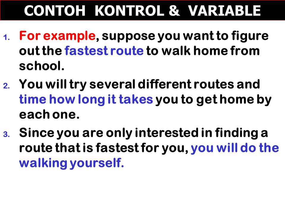 CONTOH KONTROL & VARIABLE