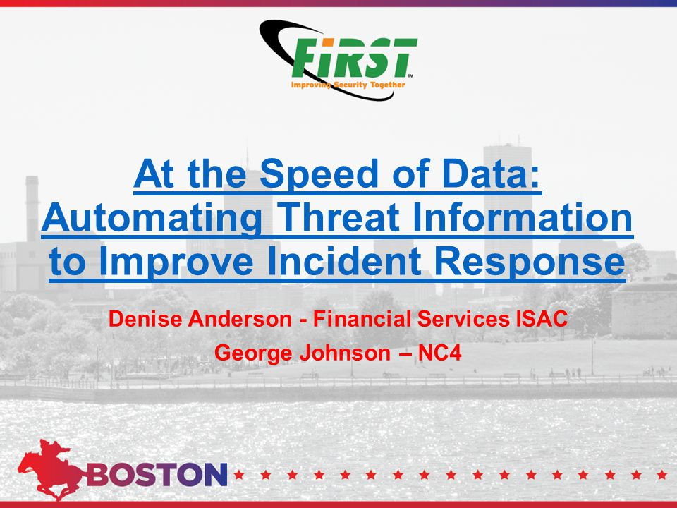 Denise Anderson - Financial Services ISAC