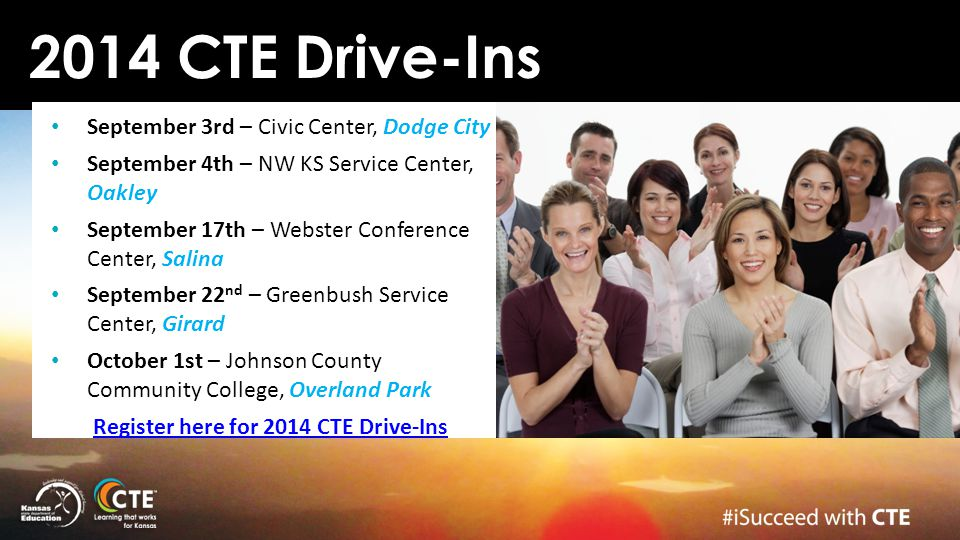 Register here for 2014 CTE Drive-Ins