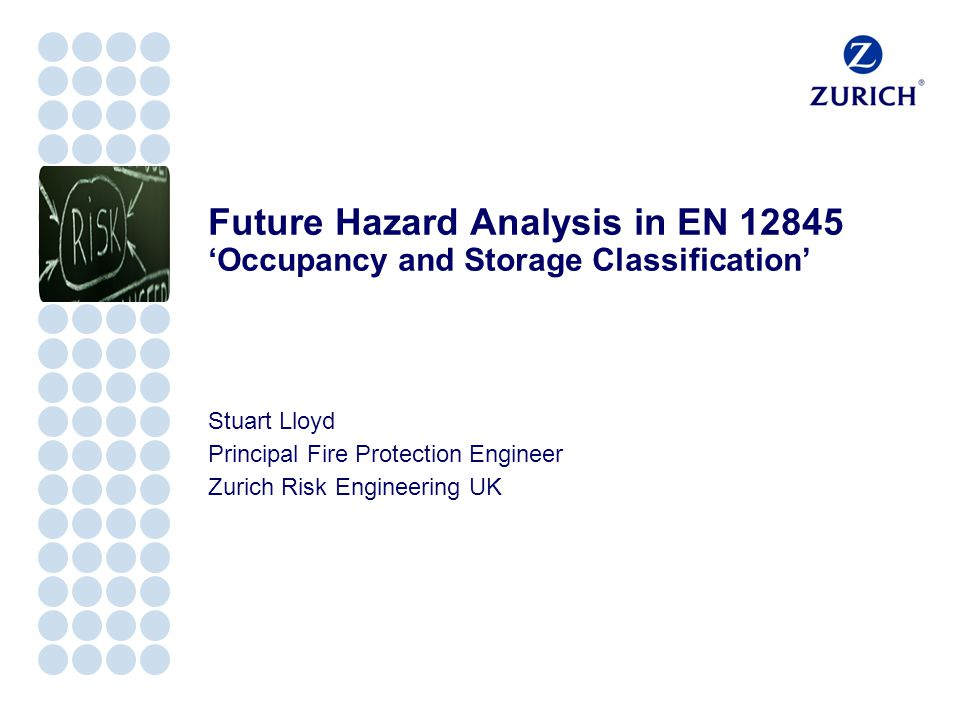 Future Hazard Analysis in EN 12845 'Occupancy and Storage Classification'
