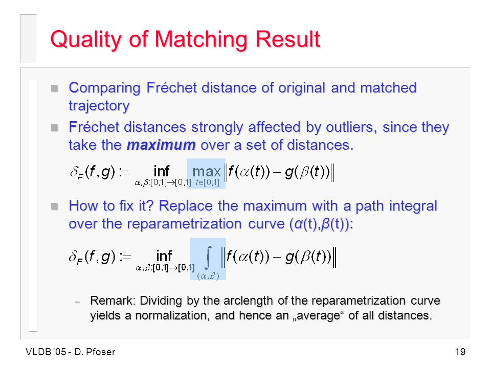 Quality of Matching Result