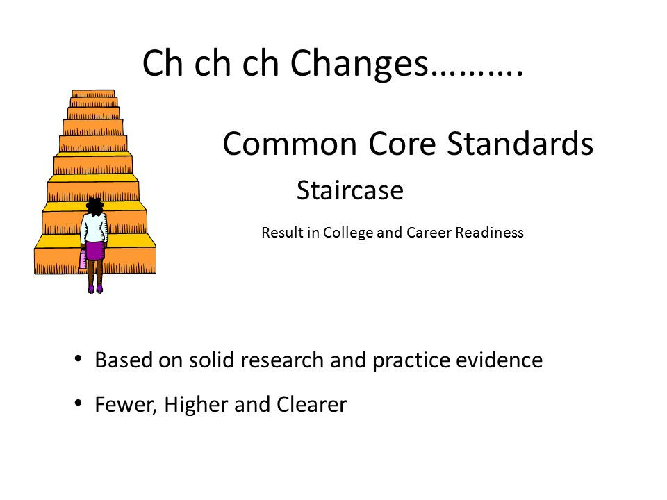 Ch ch ch Changes………. Common Core Standards Staircase
