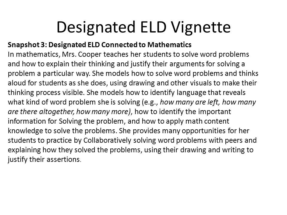 Designated ELD Vignette