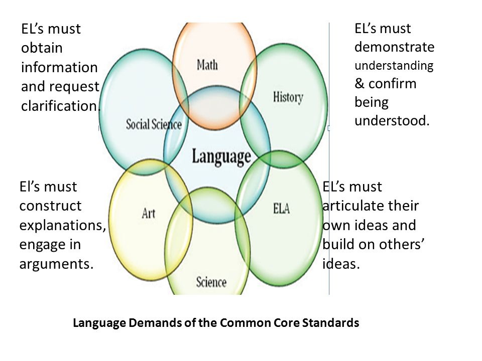 Language Demands of the Common Core Standards