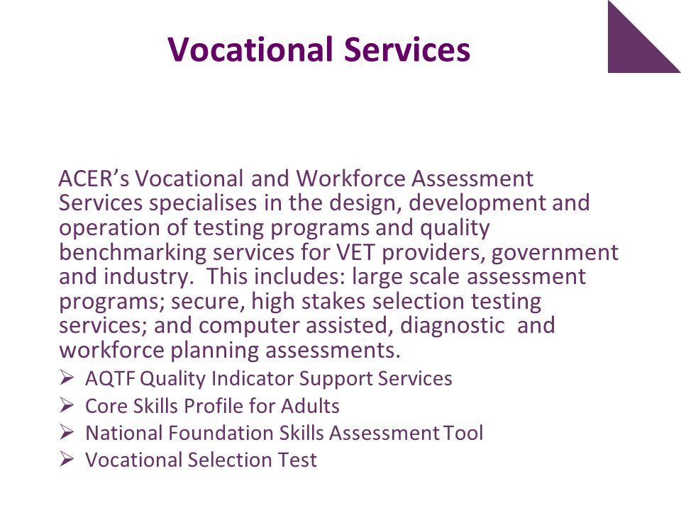 Vocational Services