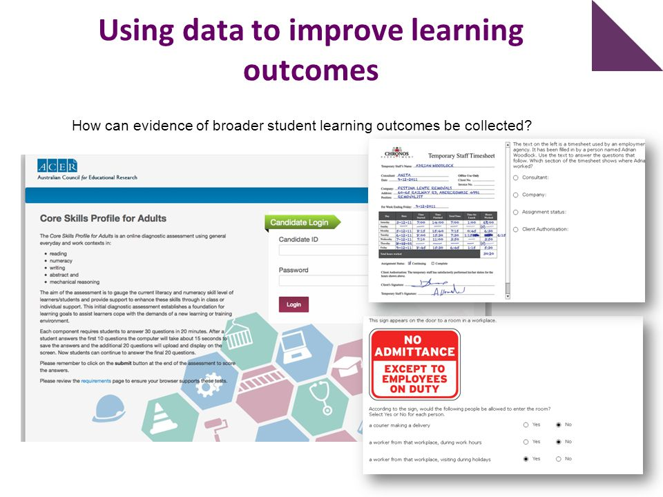 Using data to improve learning outcomes