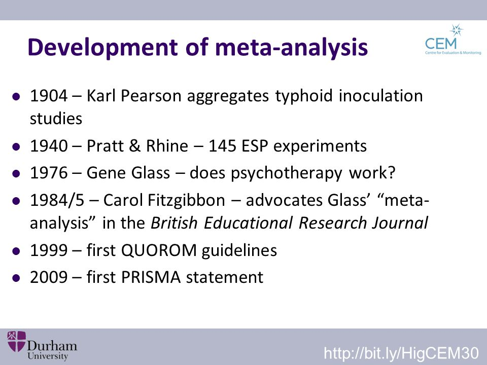 Development of meta-analysis