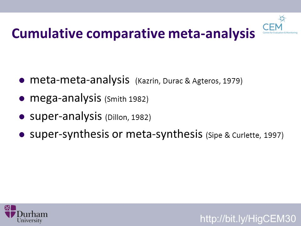 Cumulative comparative meta-analysis