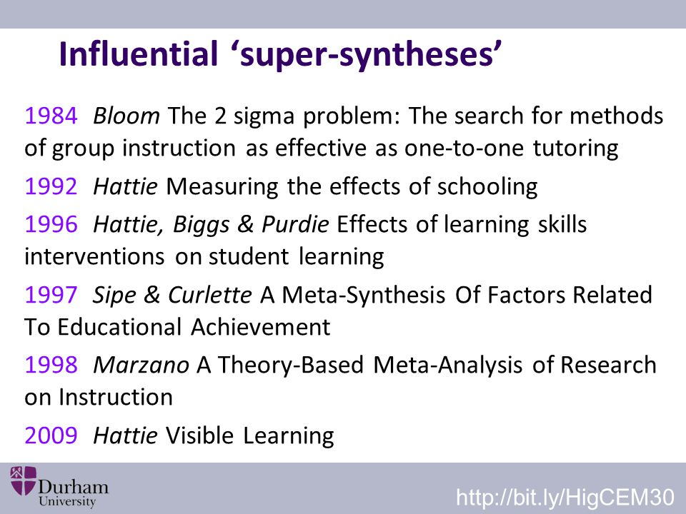 Influential 'super-syntheses'
