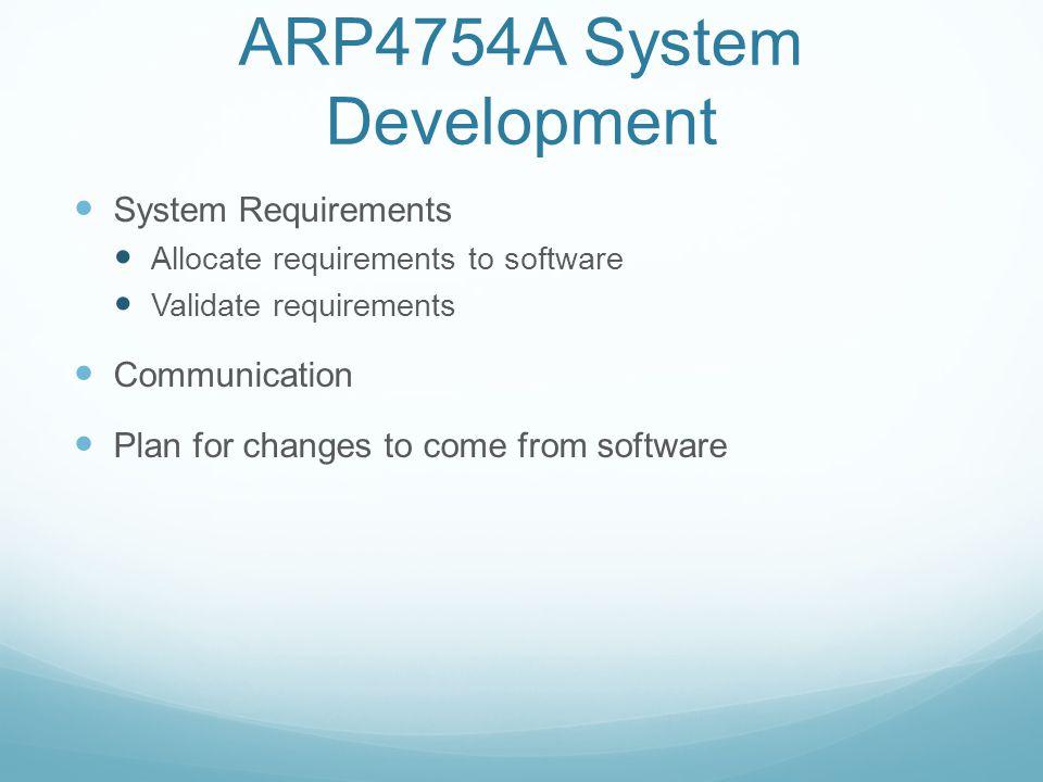 ARP4754A System Development