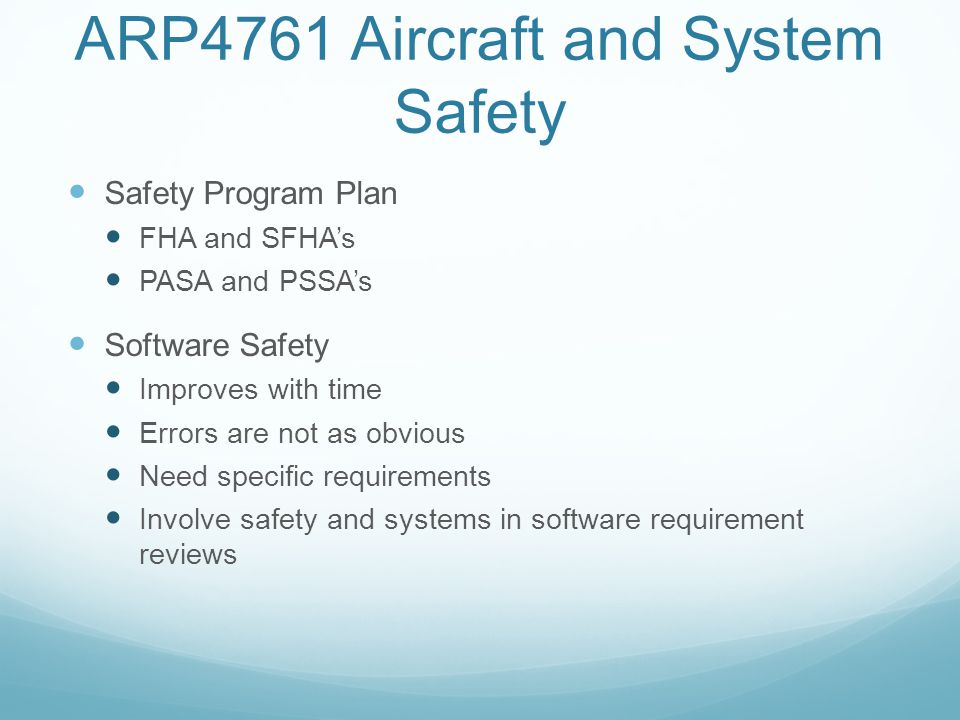 ARP4761 Aircraft and System Safety