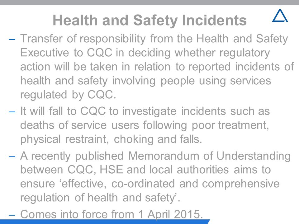 Health and Safety Incidents