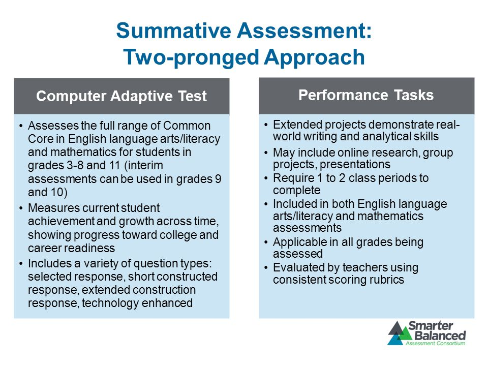 Summative Assessment: Two-pronged Approach