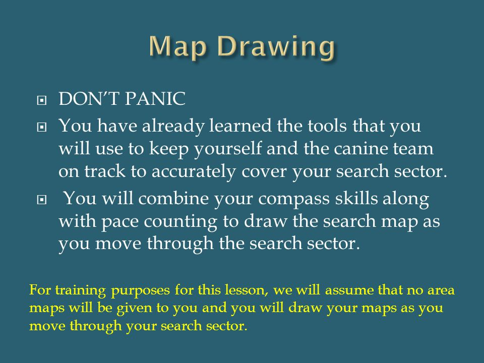 Map Drawing DON'T PANIC